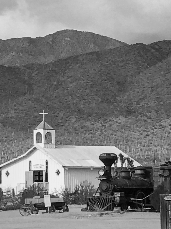 Old Tucson chapel7bandw