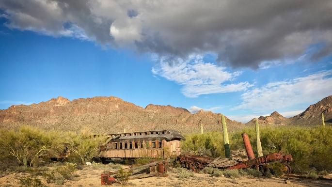 Old Tucson old train